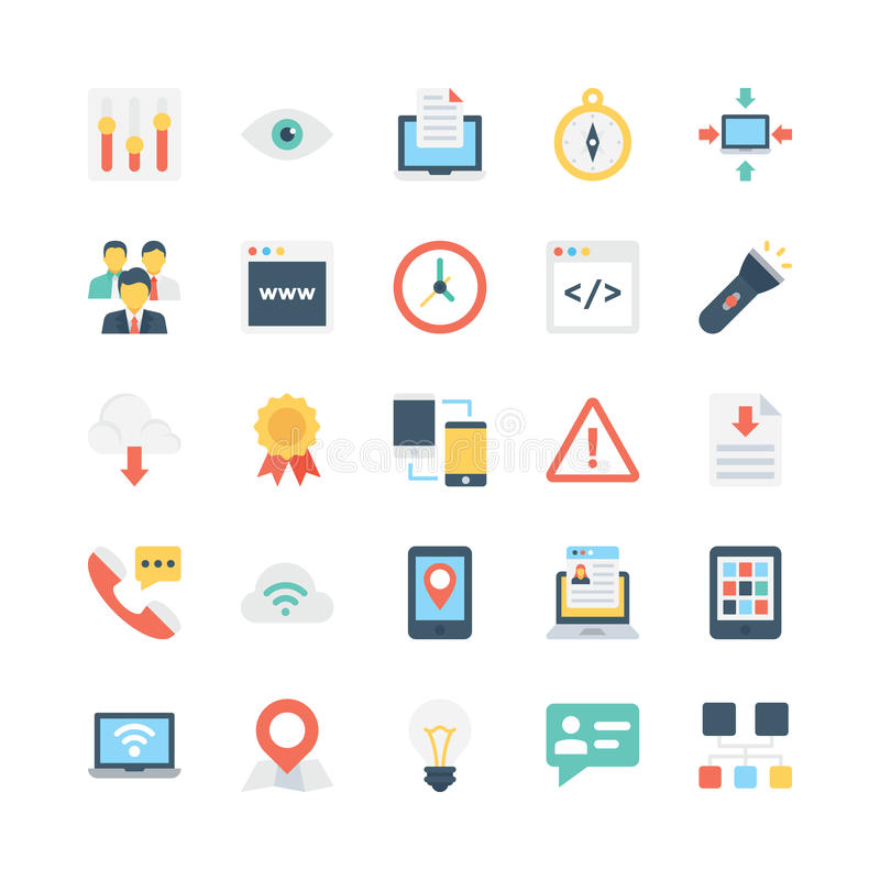 Internet Vector Icons 5. Here are some trendy Internet Vector Icons that fun, bright and perfect for your projects related to web and internet royalty free illustration