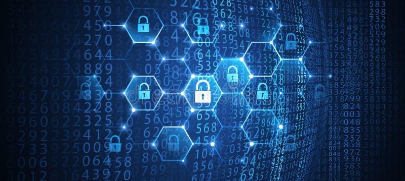 Internet-Veiligheidsachtergrond Vector vector illustratie
