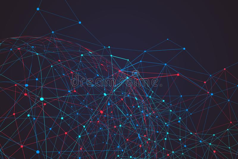 Internet-verbinding, abstracte betekenis van wetenschap en technologie gr. royalty-vrije stock foto