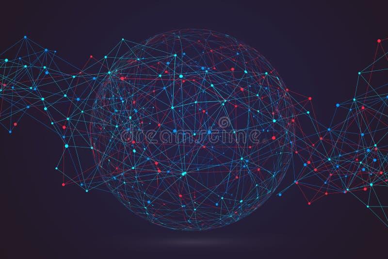 Internet-verbinding, abstracte betekenis van wetenschap en technologie gr. royalty-vrije stock fotografie