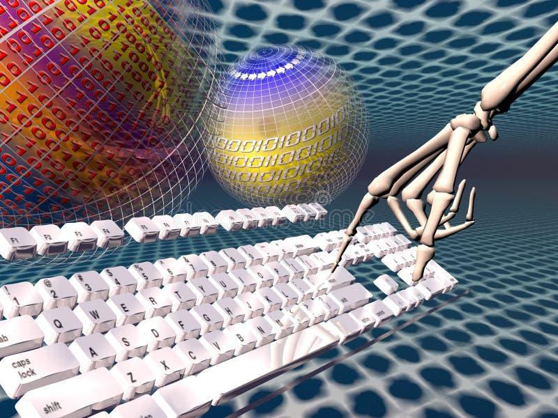 Internet, verslaving vector illustratie