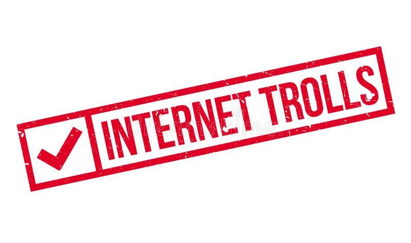 Internet vist rubberzegel met een sleeplijn royalty-vrije illustratie
