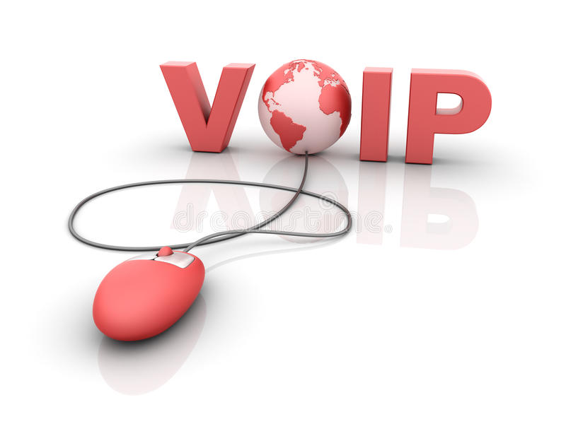 Internet VOIP - Voice over IP royalty free illustration