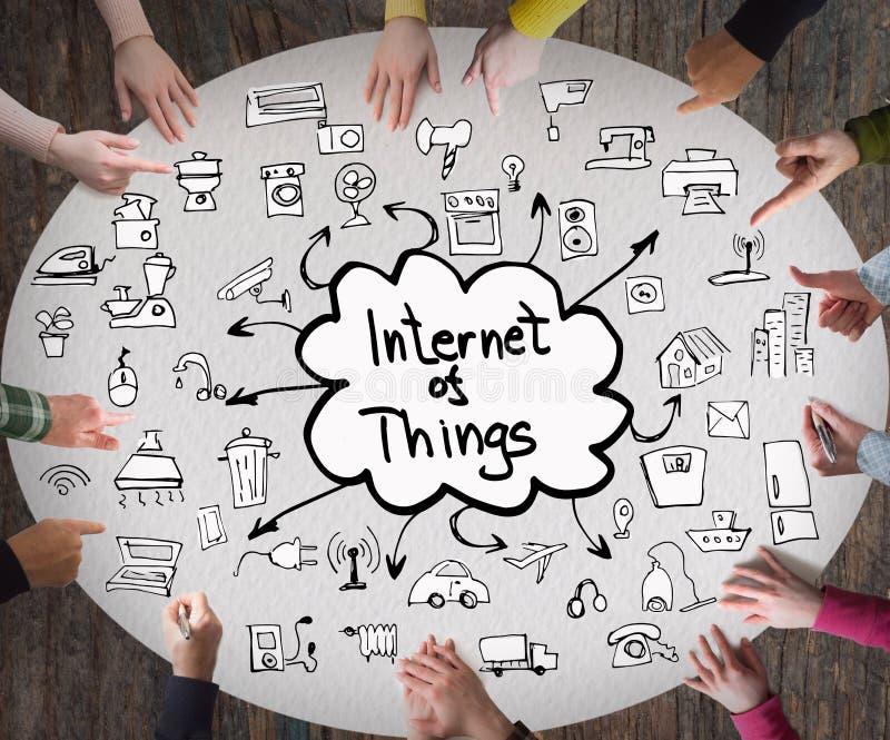 Internet von Sachen, Geschäftskonzept lizenzfreie stockfotos
