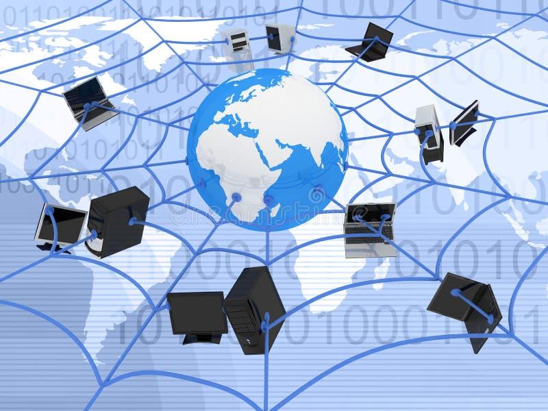 Internet web. Abstract presentation of the internet web royalty free illustration