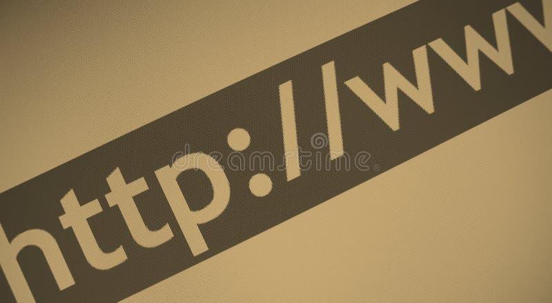 Internet-Web-Adresse Stockfoto