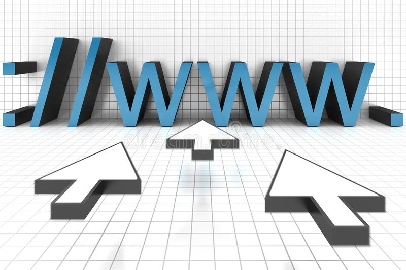 Download Internet Web Browser stock illustration. Image of abstract - 26477723