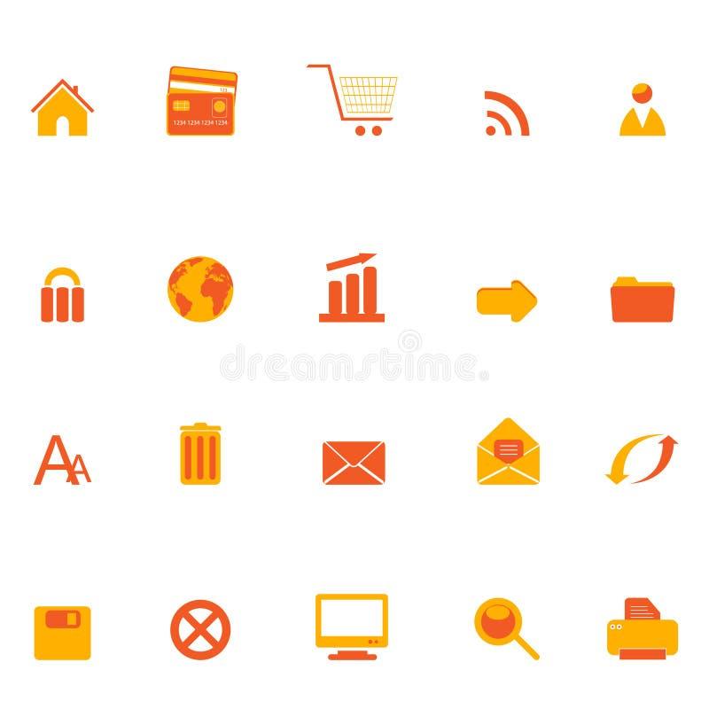 Internet, web and e-commerce icons royalty free illustration