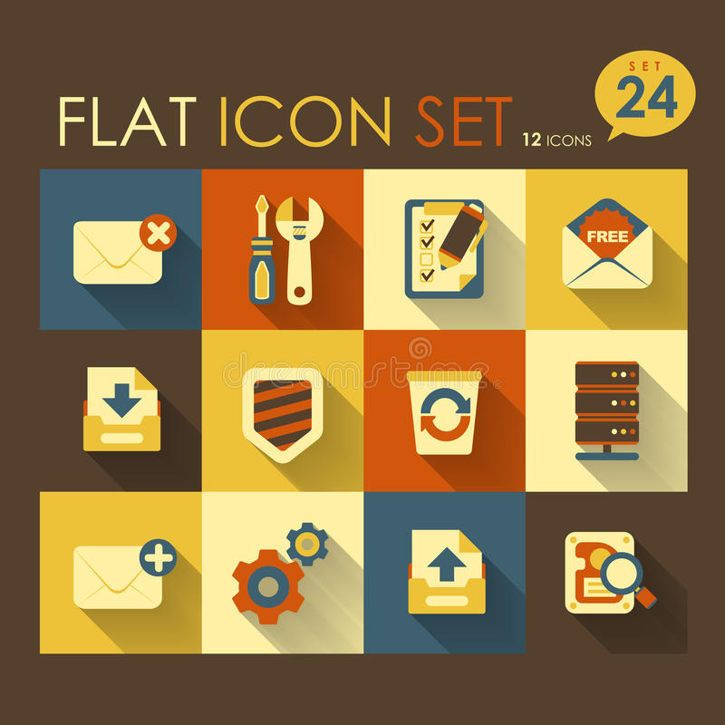 Internet & web icon set. Vector flat design vector illustration