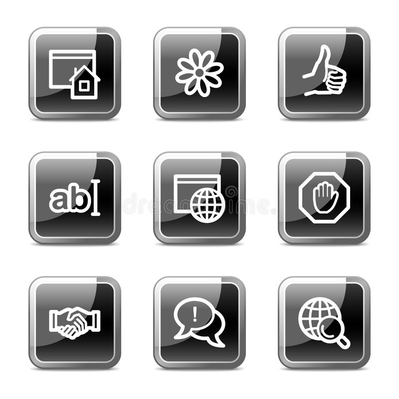 Internet web icons, glossy buttons series royalty free illustration