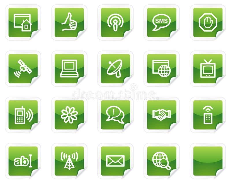 Internet Web Icons, Green Sticker Series Stock Image
