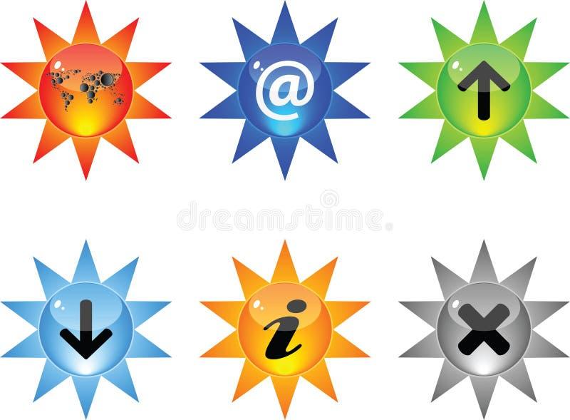 Internet-Web-Ikonen stock abbildung
