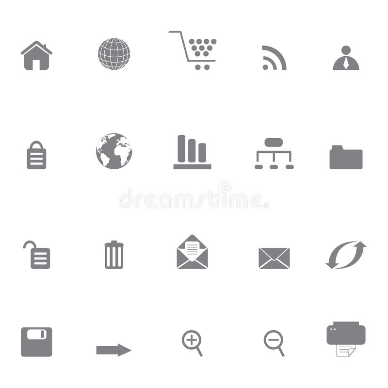 Internet Or Web Site Icons Stock Image