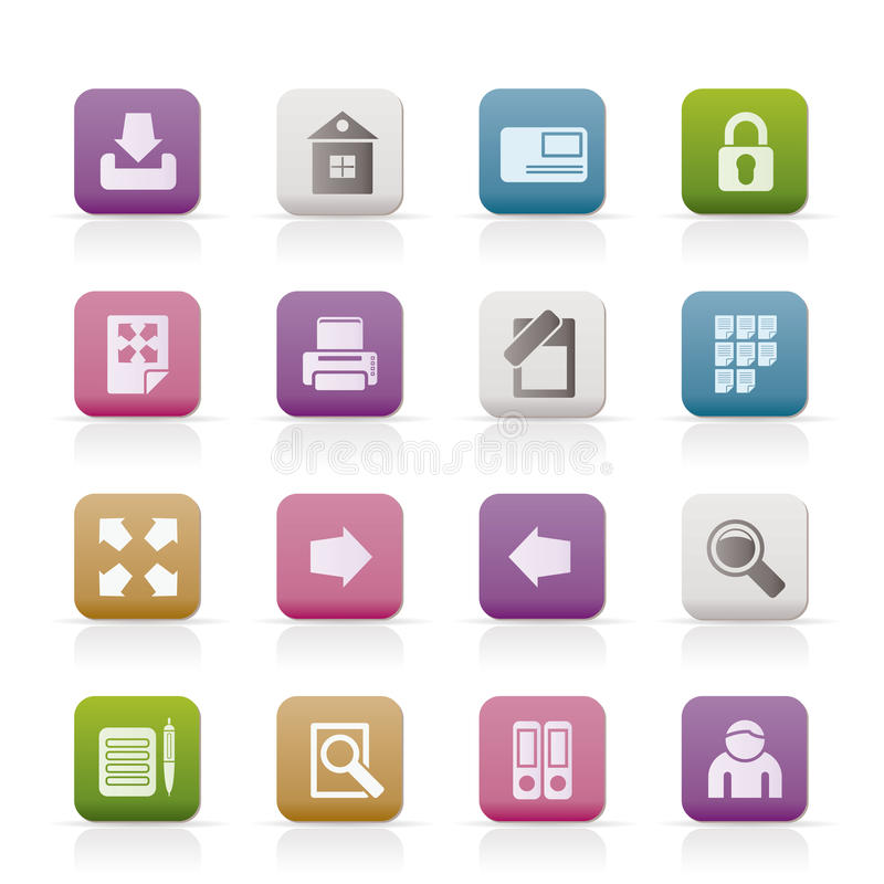 Internet and Web Site Icons royalty free illustration