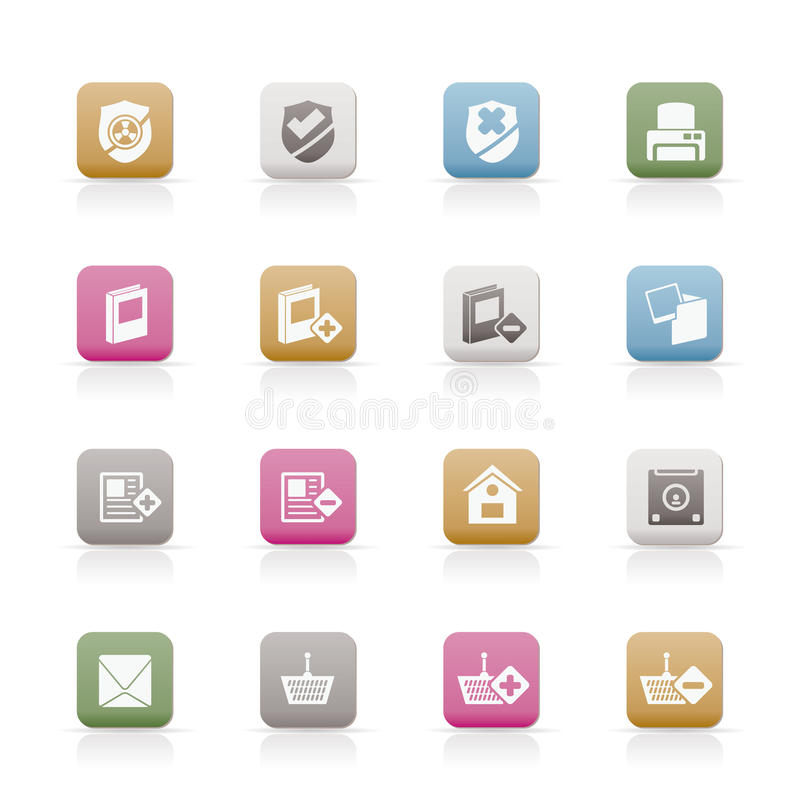 Internet And Website Buttons And Icons Royalty Free Stock Image