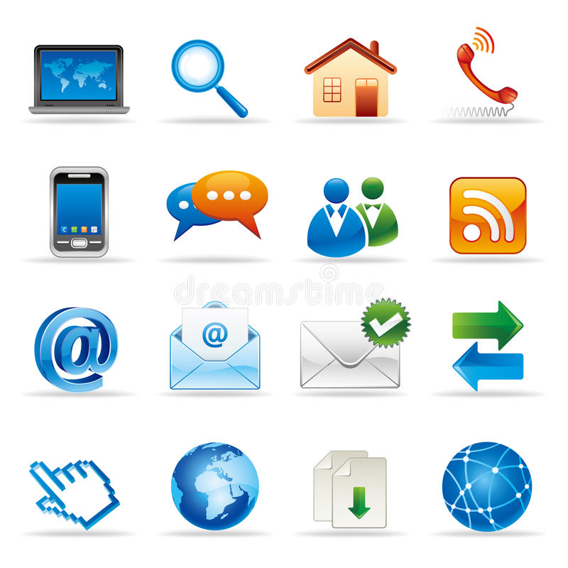 internet and website icons vector illustration