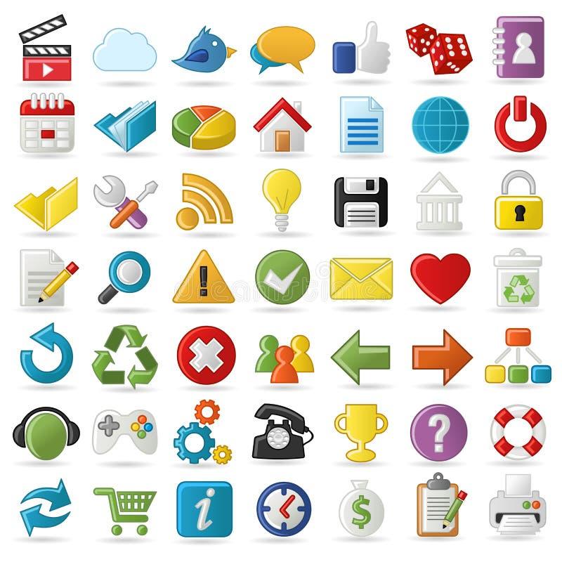 Internet and Website icons. Set of Internet, Website icons Set vector illustration