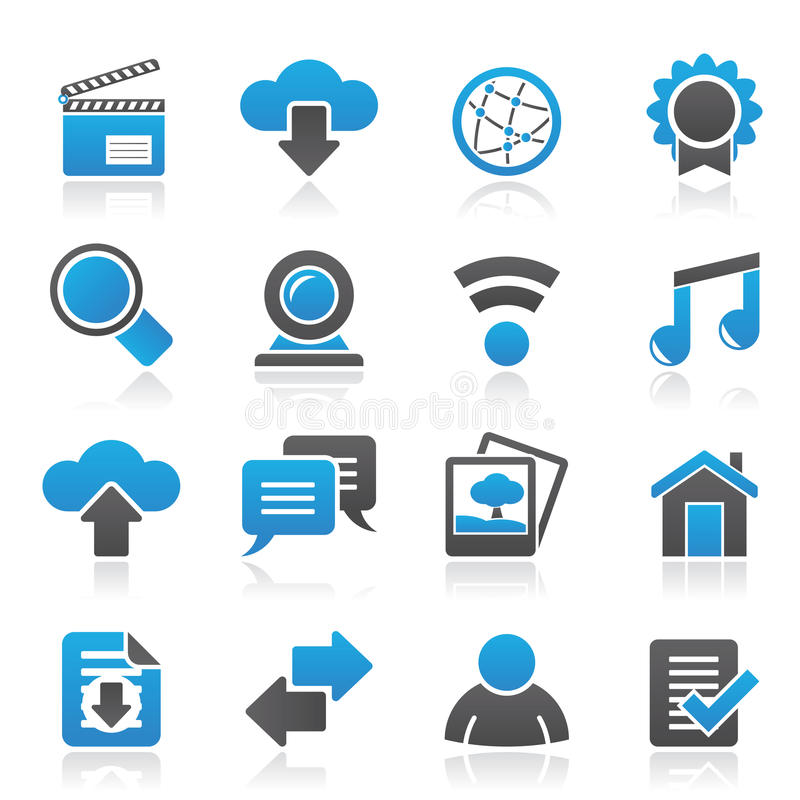 Internet and website icons. Vector icon set vector illustration