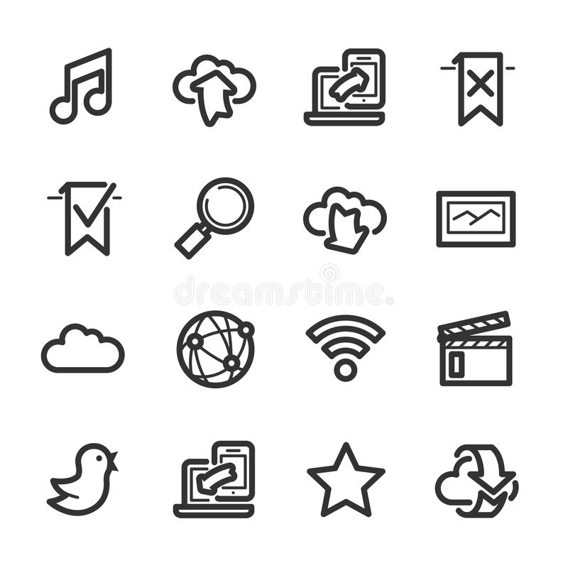 Internet and wedsites icons – Bazza series stock images