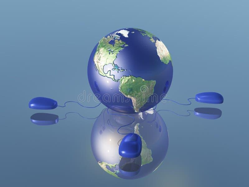 Internet-Wereld vector illustratie