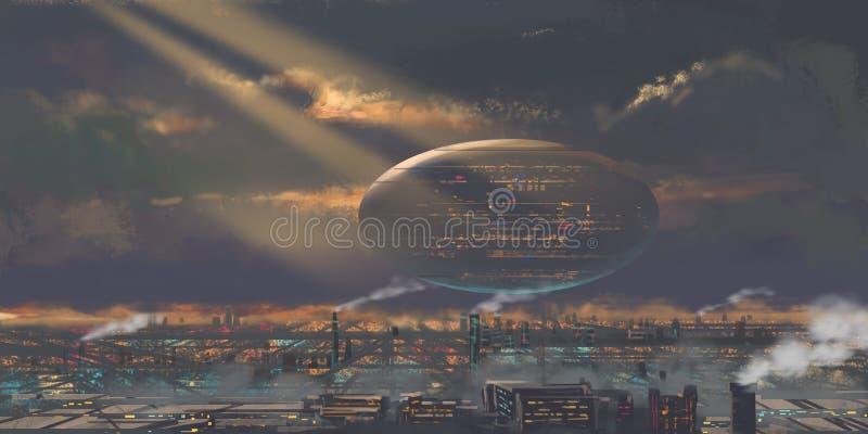 Internet-wereld Wij leven in een Internet-Wereld, verder raakt Onze Echte Wereld achterop stock illustratie