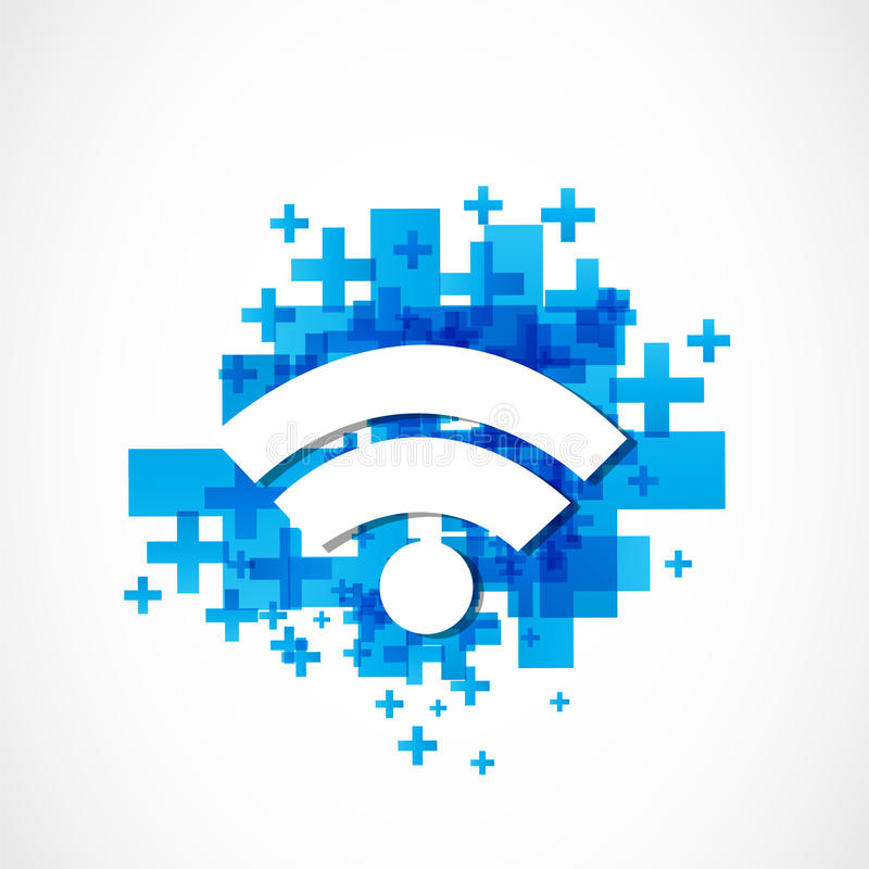 Internet wifi. Abstract technology background royalty free illustration