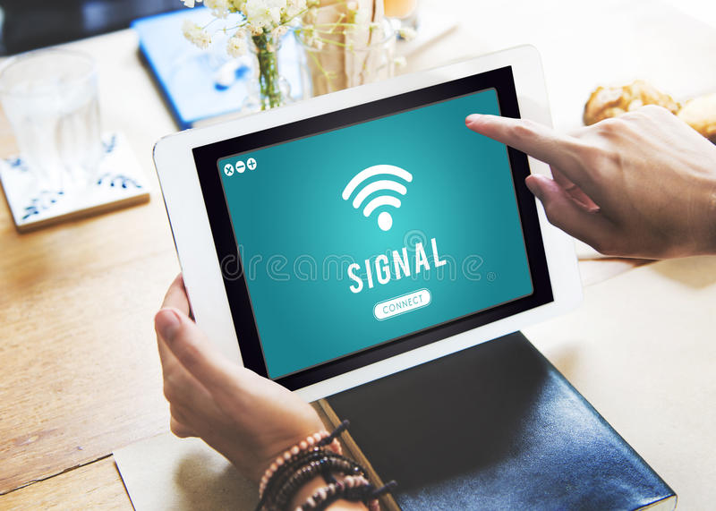Internet Wifi Connection Access Hotspot stock images