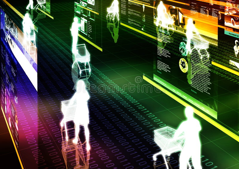 Internet Winkelende 01 vector illustratie