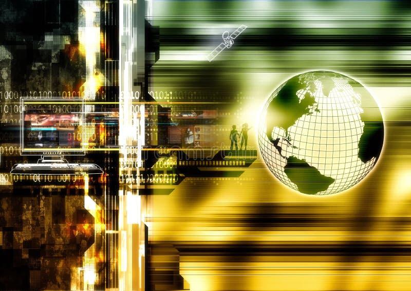 Internet World. Hi-tech style illustration of the internet world vector illustration