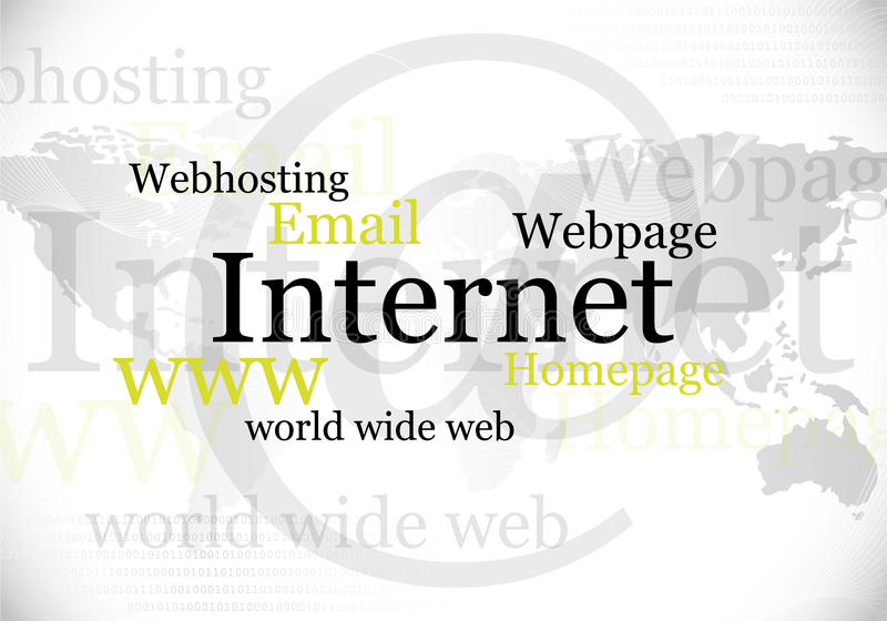 Internet, world wide web design. Abstract internet, world wide web design / background stock illustration