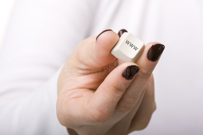 Internet At Your Hand Royalty Free Stock Image