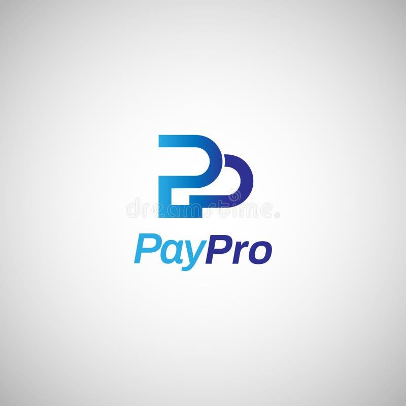 Internet-Zahlung Logo Sign Symbol Icon des Buchstabe-Kennzeichen-P vektor abbildung