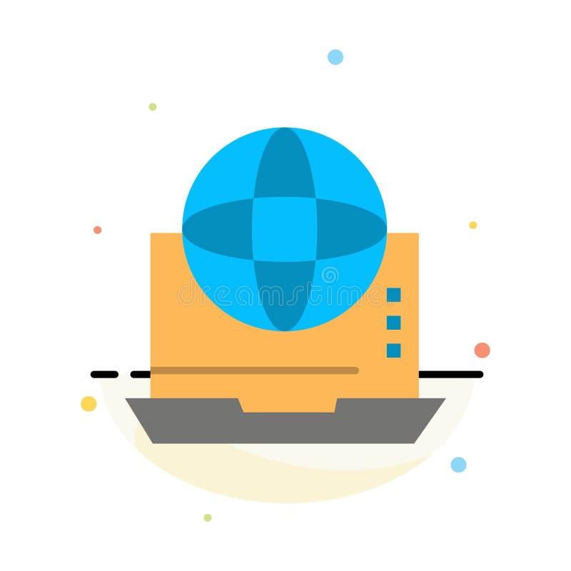 Internet, Zaken, Mededeling, Verbinding, Netwerk, het Online Abstracte Vlakke Malplaatje van het Kleurenpictogram royalty-vrije illustratie
