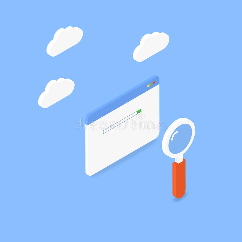 Internet zoek vector illustratie