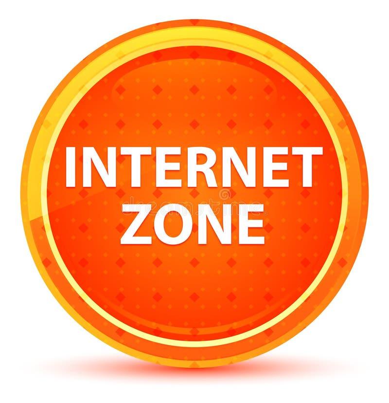 Internet-Zonen-natürlicher orange runder Knopf stock abbildung