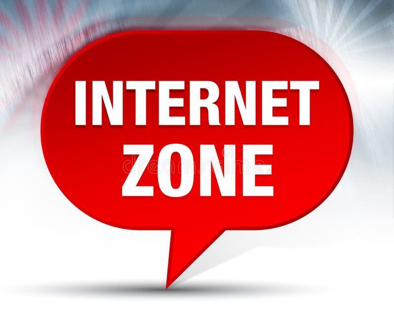 Internet-Zonen-roter Blasen-Hintergrund vektor abbildung