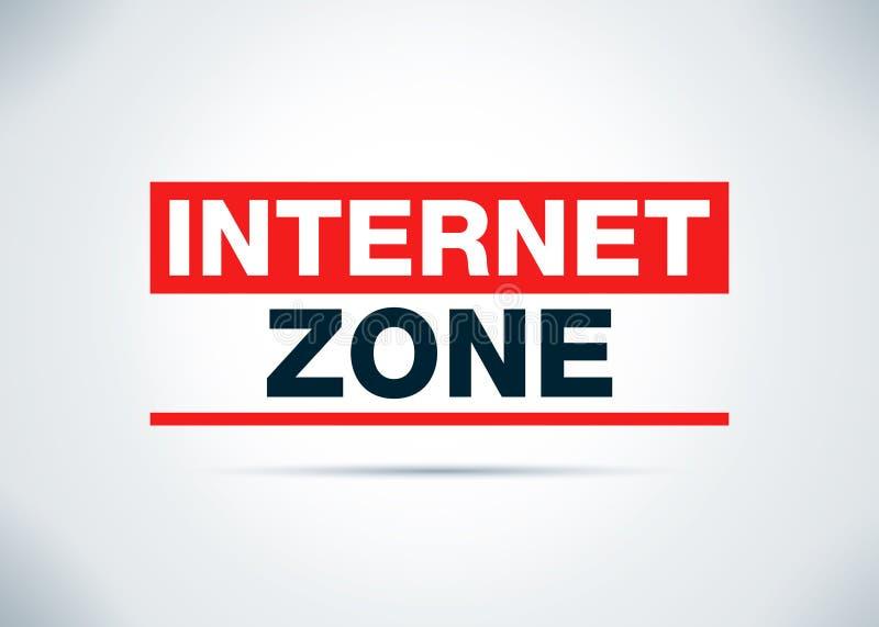 Internet-Zonen-Zusammenfassungs-flache Hintergrund-Entwurfs-Illustration lizenzfreie abbildung