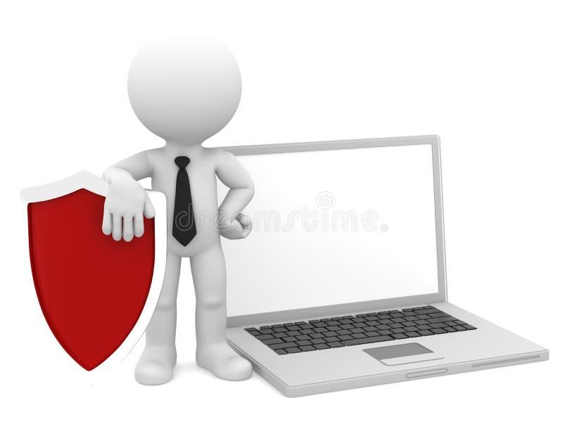 Interneta bezpieczeństwa komputerowego pojęcie/. ilustracja wektor