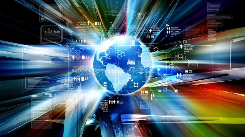 Interneta i technologie informacyjne pojęcia tło ilustracja wektor