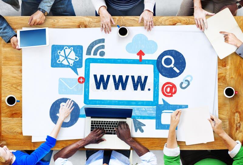 Interneta Internetowy Online Ilustracyjny pojęcie zdjęcia stock