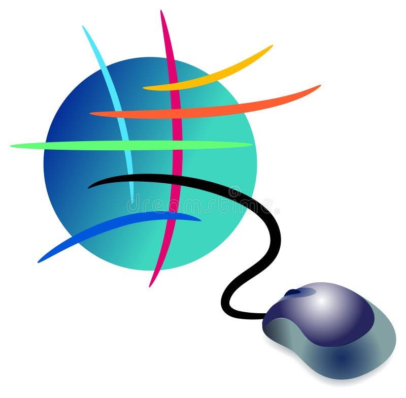 interneta logo royalty ilustracja