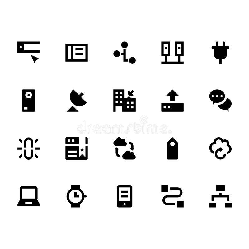 Interneta, networking i komunikaci Wektorowe ikony 6, ilustracji