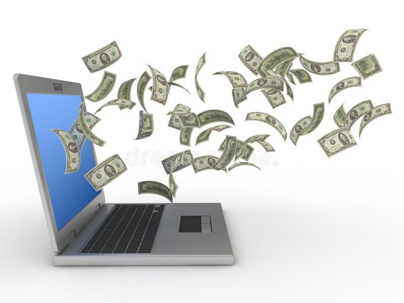 interneta pieniądze zdjęcie stock