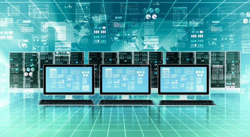 Interneta serweru Obłoczny pojęcie ilustracja wektor