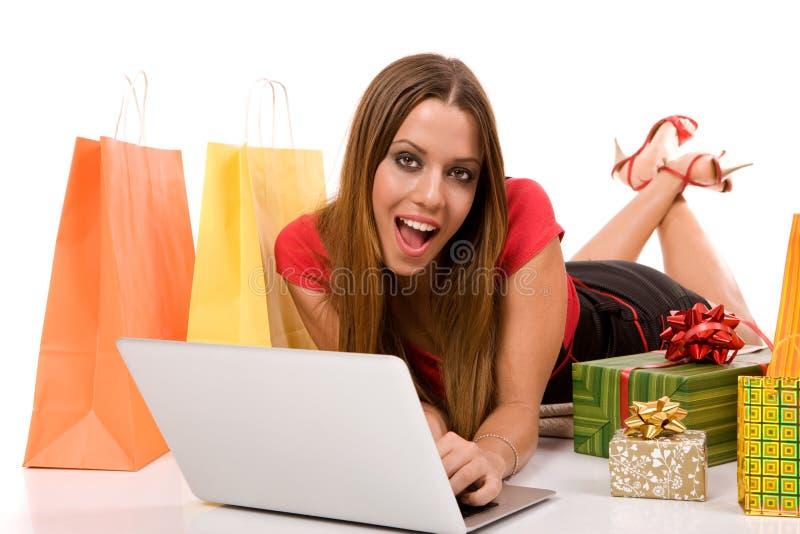 interneta zakupy obraz stock