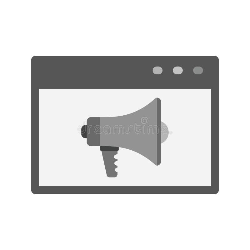 Internetannonser stock illustrationer