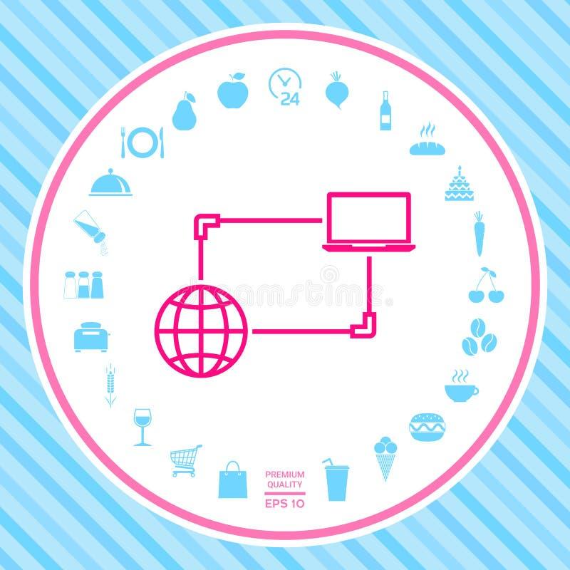 Internetanschluss, Daten-Austausch, Übergangskonzept-Ikone vektor abbildung