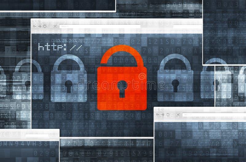 Internetanschluss-Sicherheit lizenzfreie abbildung