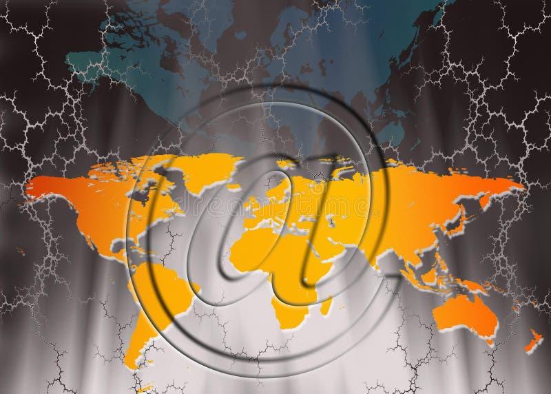 Internetkommunikationer - nätverkande stock illustrationer