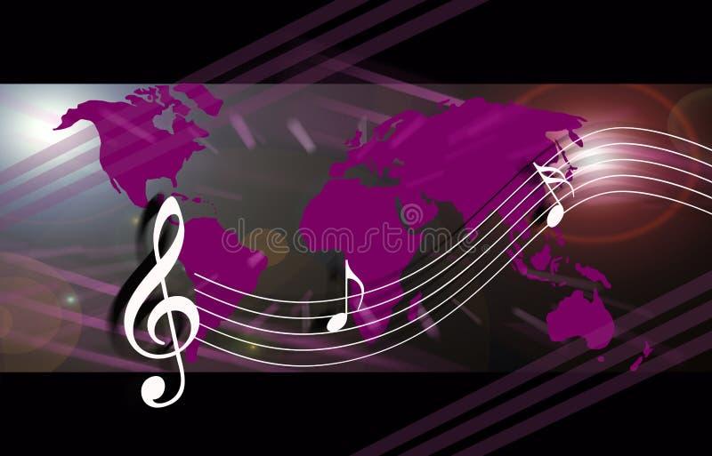internetmusikvärld vektor illustrationer